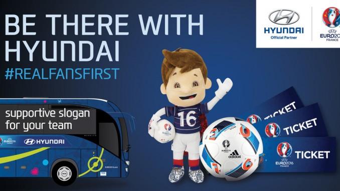 Teambus-Slogans zur EM stehen fest. © spothits/Hyundai-Aktion zur Fußball-Europameisterschaft./Foto: Hyundai