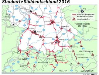 ADAC richtet Service-Hotline zur Staugefahr ein. © spothits/Staukarte Deutsch-Österreichische -Grenze./Foto: ADAC