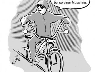 Mofa-Tuning ist lebensgefährlich. © spothits/Frsiertes Mofa./Foto: Goslar Institut
