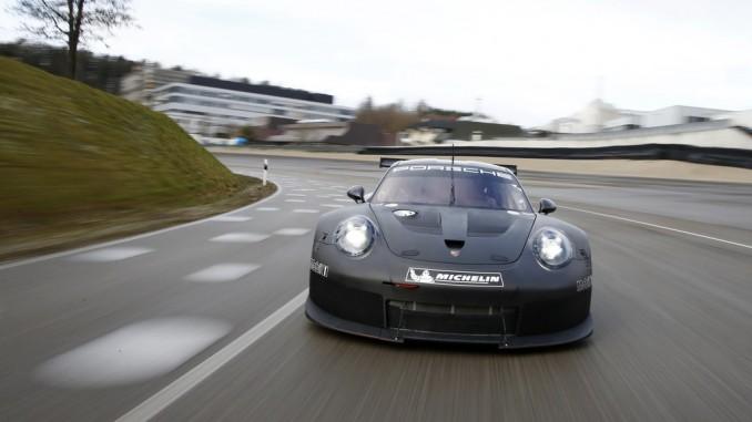 Porsche entwickelt 911-RSR-Nachfolger. © spothits/Rollout des Porsche-911-RSR-Nachfolgers in Weissach./Foto: Porsche