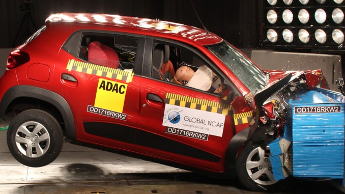 Crashtest: Indische Autos patzen. © spothits/Renault Kwid I im Global-NCAP-Crashtest.