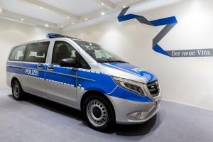 Polizei-Vito als interaktives Revier. © spothits/Foto: Daimler