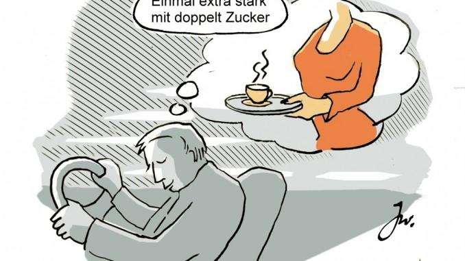 Ratgeber: Vorsicht vor dem Sekundenschlaf. © spothits/Goslar Institut
