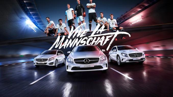 Kurz vor dem Anpfiff legte Mercedes-Benz noch einmal nach. © spothits/Daimler
