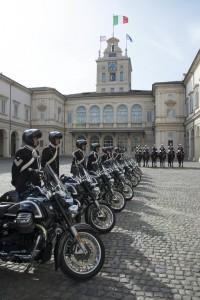 Moto Guzzi California für die Ehrengarde. © spothits/Piaggio