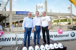 BMW feiert Richtfest für Motorrad-Logistikzentrum. © spothits/BMW