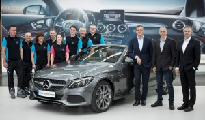 Mercedes-Benz startet Produktion des C-Klasse Cabriolet. © spothits/Daimler