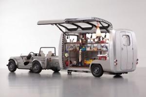 Kinder gestalten Wohnwagen von Toyota. © spothits/Toyota