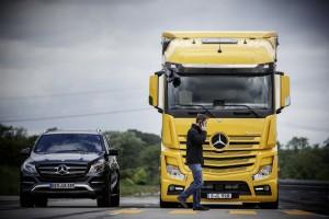 Mercedes-Benz bringt Sicherheitstechnologien in den Lkw. © spothits/Daimler