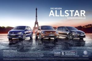 "Volkswagen bringt ""Allstars""-Sondermodelle. © spothits/Volkswagen"