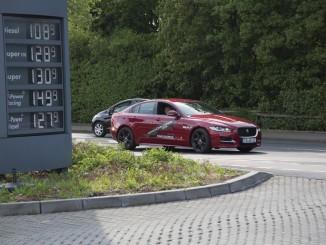 Jaguar XE mit 3,6 Liter/100 km von Fulda nach Salzburg und zurück. © spothits/Jaguar Land Rover