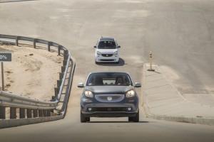 Mitfahrt im Smart Fortwo Electric Drive-Prototyp: Auf dem Sprung. © spothits/Hersteller