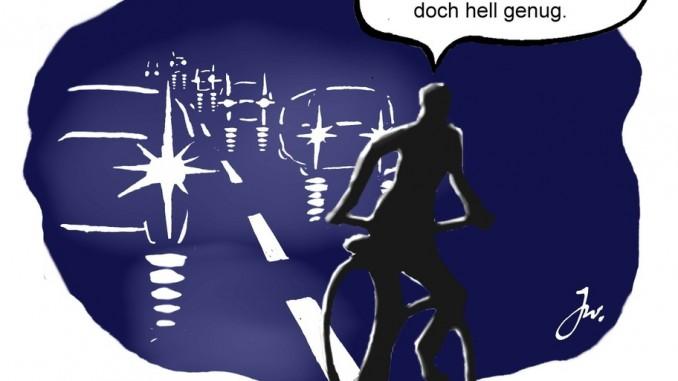 Die richtige Beleuchtung fürs Fahrrrad. © spothits/Goslar Institut