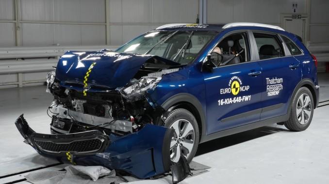 Crashtest: Zweimal Bestnoten und zweimal Abzüge bei den Basismodellen. © spothits/Euro NCAP