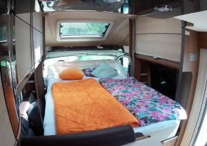 Praxistest Dethleffs 4-Travel: Bettenlift bringt Raumgewinn. © spothits/Busse
