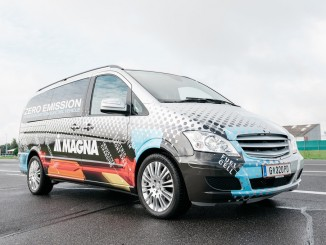 IAA Nutzfahrzeuge 2016: Magna präsentiert Elektrokonzepte. © spothits/Magna