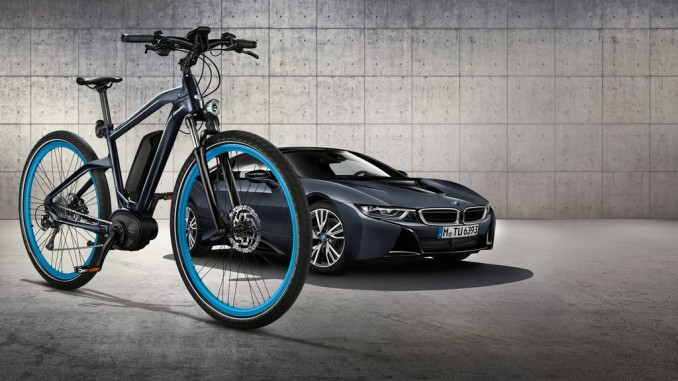 Das passende e-Bike zur BMW i8-Sonderedition. © spothits/BVMW