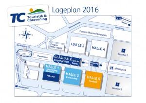 Touristik & Caravaning 2016: Lageplan. © spothits/Touristik & Caravaning