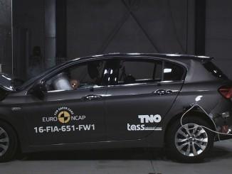 Euro-NCAP-Crashtest: Der Fiat Tipo schafft es nicht ganz. © spothits/Euro NCAP