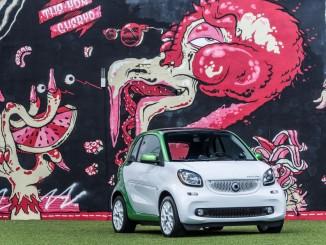 Smart Electric Drive: Kugelblitz im Art District. © spothits/Daimler