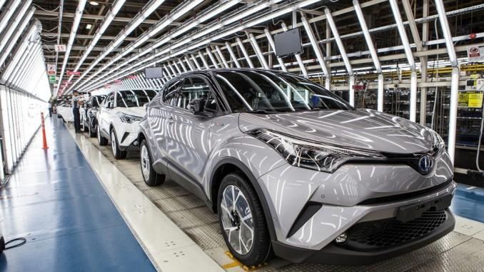 Erster Toyota C-HR rollt vom Band. © spothits/Toyota