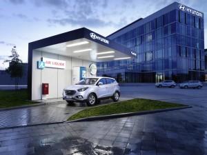 Hyundai nimmt öffentliche Wasserstofftankstelle in Betrieb. © spothits/Hyundai