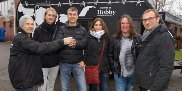 Hobby De Luxe Edition 440 SF im Wacken Design versteigert. © spothits/Hobby