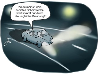 Fahrzeugbeleuchtung regelmäßig überprüfen. © spothits/Goslar Institut