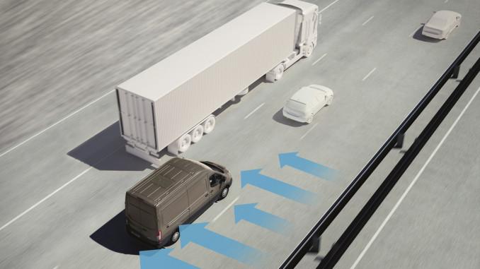 Ford mit Seitenwind-Assistent für den Transit. © Autop-Medienportal/Ford