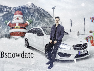 """Weihnachtsgrüße mit """"Snow Date by Mercedes-Benz"""". © spothits/Auto-Medienportal.net/Daimler"""