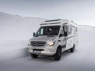 Wintercamping - Mercedes-Benz Vans und Hymer sind dabei. © spothits/Auto-Medienportal.net/Daimler