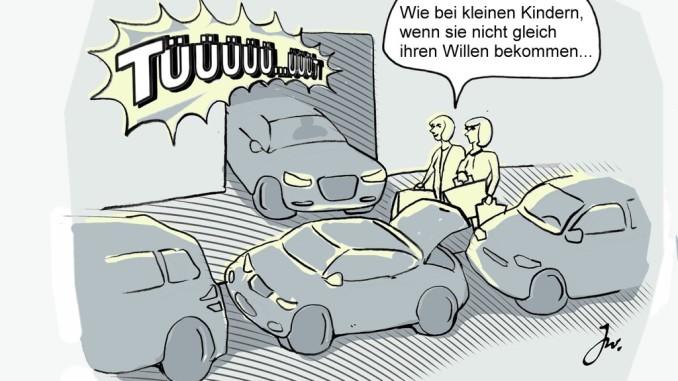 Ratgeber: Zugeparkt – richtig reagieren. © spothits/Auto-Medienportal.net/Daimler