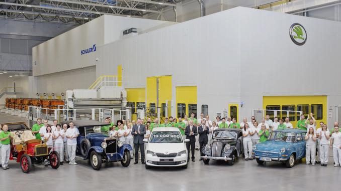 Skoda baut 19-millionstes Auto. © spothits/Auto-Medienportal.Net/Skoda