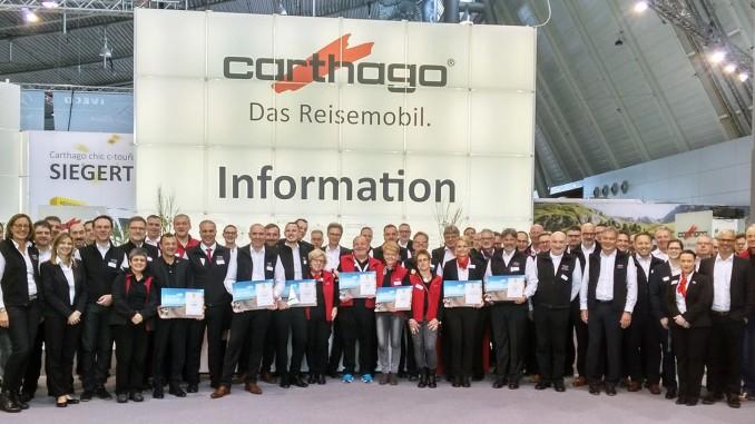 Carthago-Mannschaft auf der CMT 2017. Foto: spothits/Carthago