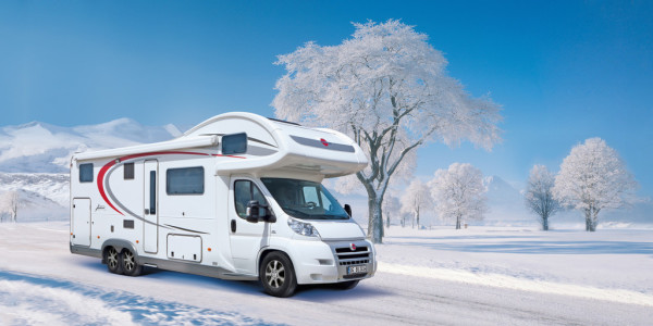 Camping im Winter. Foto: spothits/ampnet/Bürstner