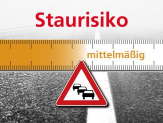 Staurisikoeinschätzung des ACE für das kommende Wochenende. Foto: spothits/ampnet/ACE