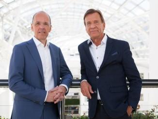 Autoliv-Präsident Jan Carlson und Volvo-Chef Hakan Samuelsson. © spothits/ampnet/Volvo