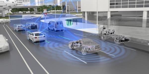 """Die Aktivitäten von ZF bei der Digitalisierung und Konnektivität der Mobilität stehen unter dem Motto """"See – Think – Act"""". © spothits/ampnet/ZF"""