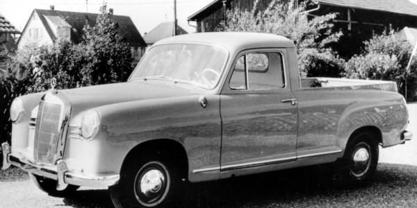 Mercedes-Benz 180 D Pritsche (1955). Foto: spothits/ampnet/Daimler