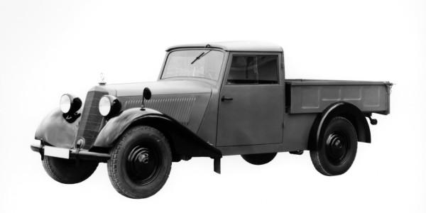 Mercedes-Benz V 170 Pritschenwagen (1946–1949). Foto: spothits/ampnet/Daimler