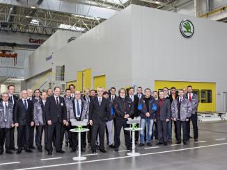 Eröffnung der neuen Pressenstraße im Skoda-Werk Mladá Boleslav. Foto: spothits/ampnet/Skoda