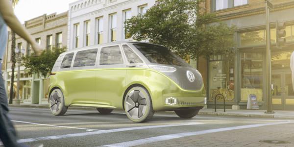 VWs Idee vom selbstfahrenden Elektro-Bulli. Foto: spothits/ampnet/VW