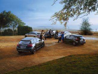 Mercedes-Benz GLA Peak Editon, CLA Shooting Break Peak Edition, B-Klasse Peak Eidtion, CLA Peak Edition und A-Klasse Peak Editon. Foto: spothits/ampnet/Daimler