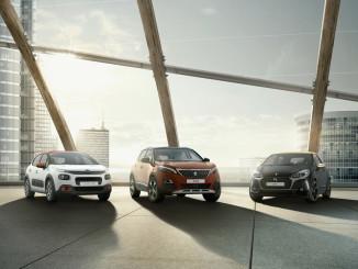 Die drei PSA-Marken: Citroen, Peugeot und DS. Foto: spothits/ampnet/PSA