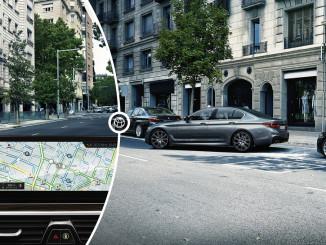 On-Street Parking Information von BMW. Foto: spothits/ampnet/BMW