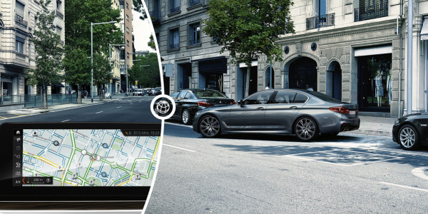 On-Street Parking Information von BMW. Foto: spothits/ampnet/BMW