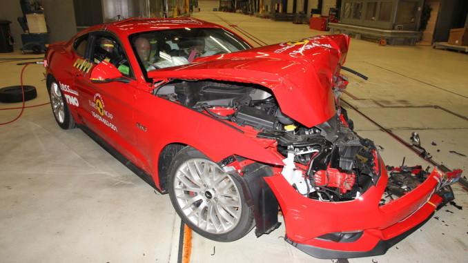 Ford Mustang im Euro-NCAP-Crashtest. Foto: spothits/NCAP/Euro NCAP