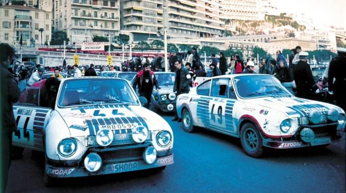 Rallye Monte Carlo 1977: Das Skoda-Werksteam belegte mit dem 130 RS den 1. und 2. Platz in der Klasse bis 1300 Kubikzentimeter. Foto: spothits/ampnet/Skoda