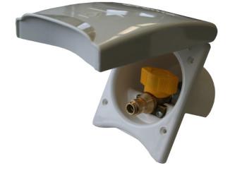 Truma Gas-Außensteckdose. spothits/Truma