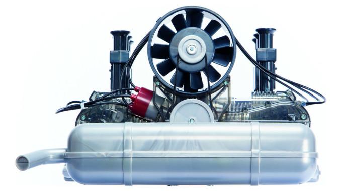 Funktionsmodell des UR-911-Motors von Franzis. Foto: spothits/ampnet/Franzis